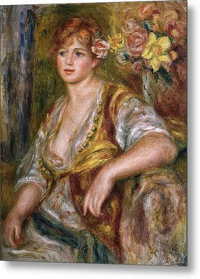 Renoirpierre-auguste 1841-1919. Blonde Metal Print by Everett