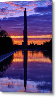 Repairing The Monument IIi Metal Print by Metro DC Photography