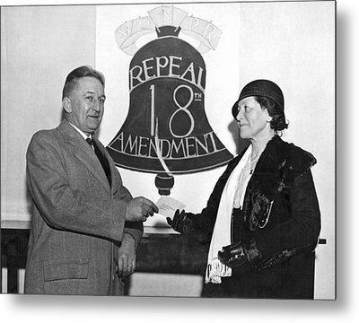 Repeal Prohibition Supporters Metal Print by Underwood Archives