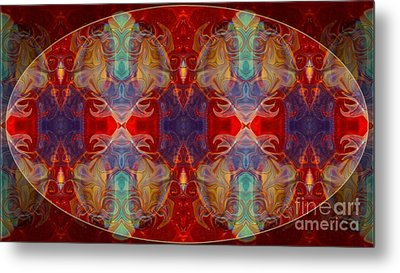 Repeating Realities Abstract Pattern Artwork By Omaste Witkowski Metal Print by Omaste Witkowski