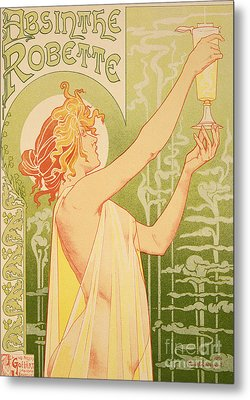 Reproduction Of A Poster Advertising 'robette Absinthe' Metal Print by Livemont