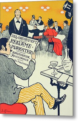 Reproduction Of A Poster Advertising Wilhelm Soborg Metal Print by Paul Fischer