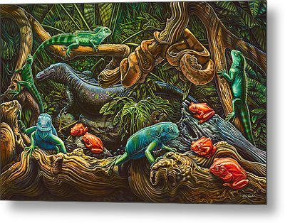 Reptile Study Metal Print by Larry Taugher