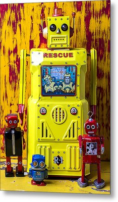 Rescue Robot Metal Print by Garry Gay