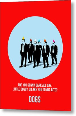 Reservoir Dogs Poster 1 Metal Print by Naxart Studio