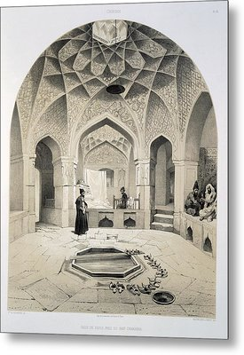 Rest Room Beside The Baths At Shemakha Metal Print by Grigori Grigorevich Gagarin