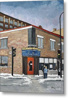 Restaurant A La Fine Pointe Metal Print by Reb Frost