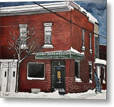 Restaurant Jean Guy  Pte. St. Charles Metal Print by Reb Frost