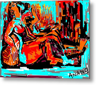 Resting Lady Metal Print by Anand Swaroop Manchiraju