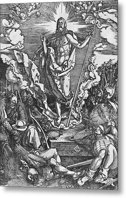 Resurrection Metal Print by Albrecht Duerer