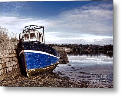 Retired Boat Metal Print by Olivier Le Queinec
