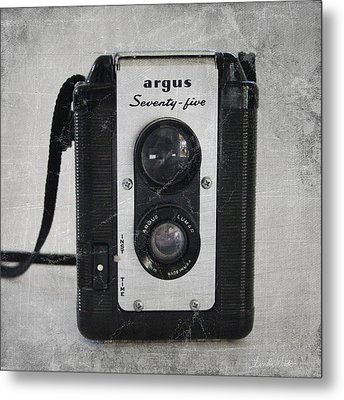 Retro Camera Metal Print by Linda Woods