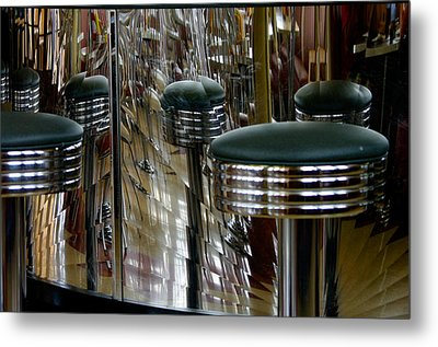 Retro Diner Metal Print by Paul Wash