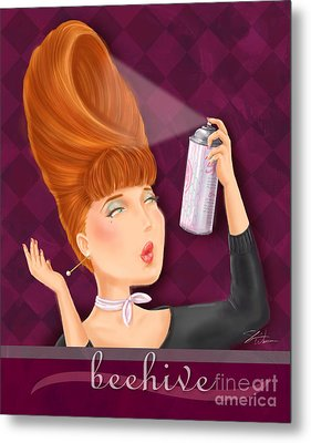Retro Hairdos-beehive Metal Print by Shari Warren