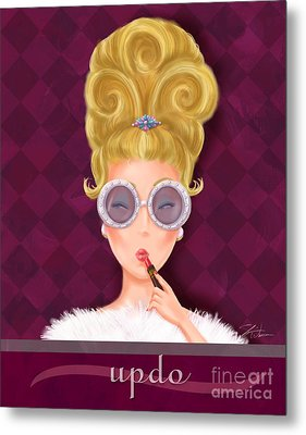Retro Hairdos-updo Metal Print by Shari Warren