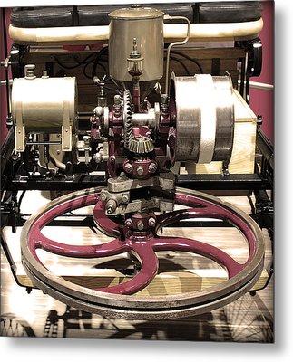 Retro Mercedes Engine Metal Print by Radoslav Nedelchev