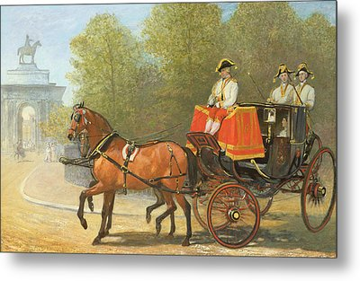 Returning From Her Majestys Drawing Room Metal Print by Alfred Corbould