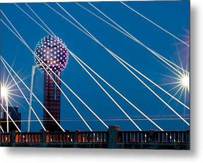 Reunion Tower Metal Print by Darryl Dalton