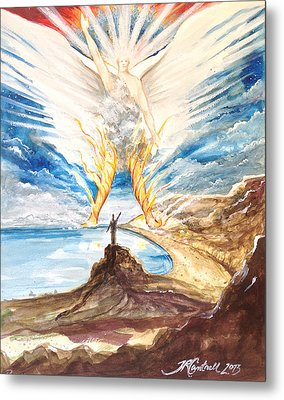Revelation 10 Angel Metal Print by Ron Cantrell
