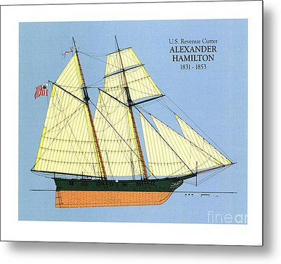 Revenue Cutter Alexander Hamilton Metal Print by Jerry McElroy - Public Domain Image