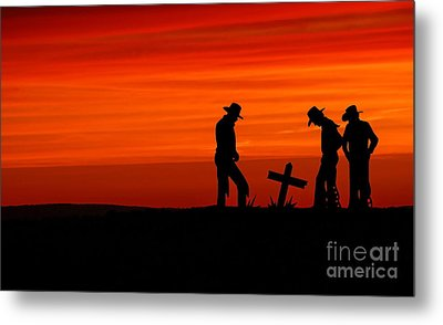 Cowboy Reverence Metal Print by Andrea Kollo