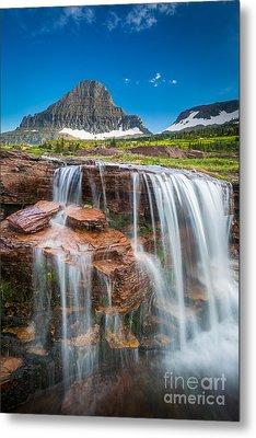 Reynolds Mountain Falls Metal Print by Inge Johnsson