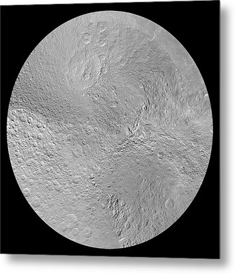 Rhea's North Pole Metal Print by Nasa/jpl-caltech/space Science Institute