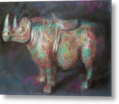 Rhinocerus Metal Print by Paez  Antonio