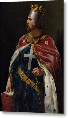 Richard I The Lionheart Metal Print by Merry Joseph Blondel