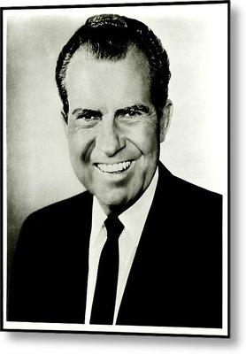 Richard M Nixon Metal Print by Benjamin Yeager