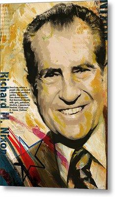 Richard Nixon Metal Print by Corporate Art Task Force
