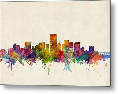 Richmond Virginia Skyline Metal Print by Michael Tompsett