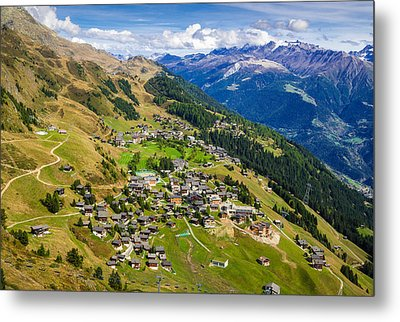 Riederalp Valais Swiss Alps Switzerland Europe Metal Print by Matthias Hauser