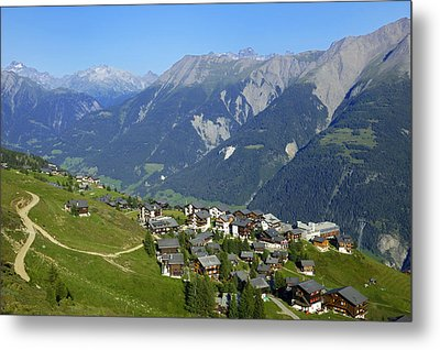 Riederalp Valais Swiss Alps Switzerland Metal Print by Matthias Hauser
