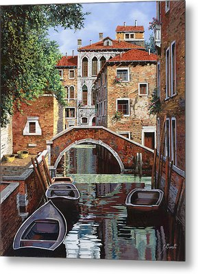 Riflessi Di Venezia Metal Print by Guido Borelli