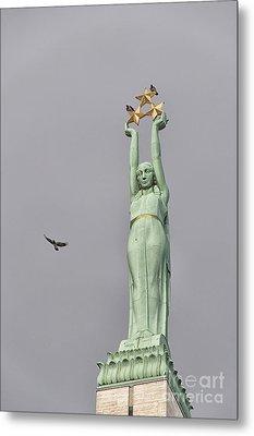 Riga Freedom Monument 03 Metal Print by Antony McAulay