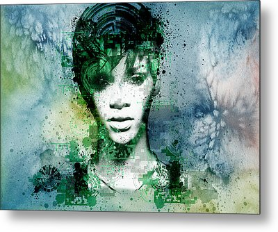 Rihanna 4 Metal Print by Bekim Art
