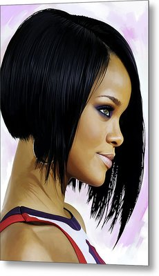 Rihanna Artwork Metal Print by Sheraz A