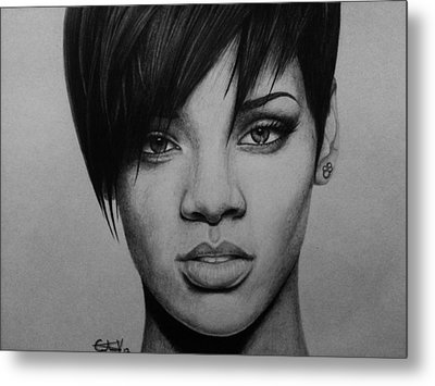 Rihanna Metal Print by Carlos Velasquez Art