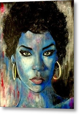 Blue Lady Metal Print by Christopher Brown
