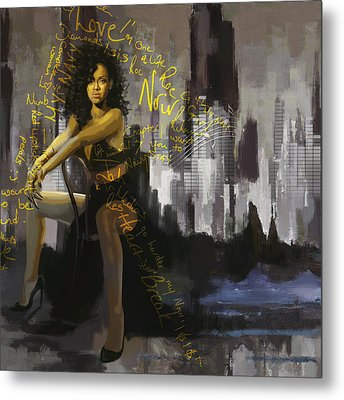 Rihanna Metal Print by Corporate Art Task Force