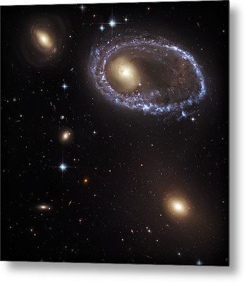 Ring Galaxy Metal Print by The  Vault - Jennifer Rondinelli Reilly