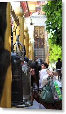 Ringing Of The Bells - Wat Phrathat Doi Suthep - Chiang Mai Thailand - 01132 Metal Print by DC Photographer