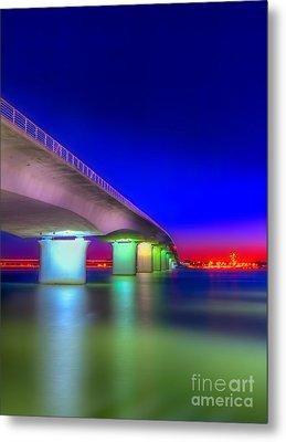 Ringling Bridge Metal Print by Marvin Spates