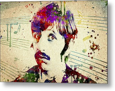 Ringo Starr Metal Print by Aged Pixel
