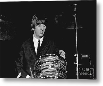 Ringo Starr, Beatles Concert, 1964 Metal Print by Larry Mulvehill