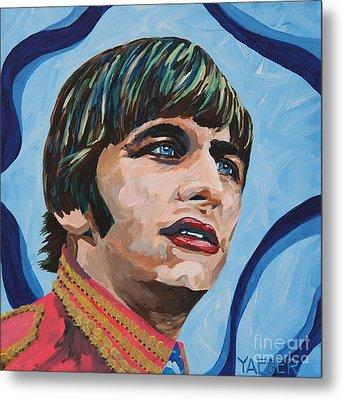 Ringo Starr Portrait Metal Print by Robert Yaeger