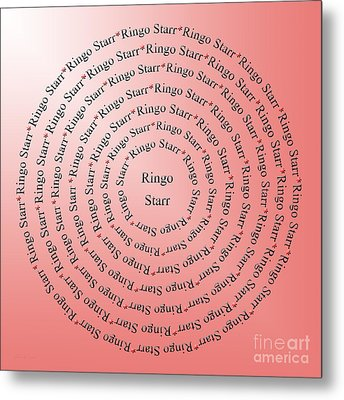 Ringo Starr Typography Metal Print by Andee Design