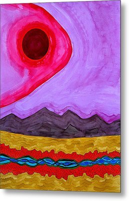Rio Grande Gorge Original Painting Metal Print by Sol Luckman