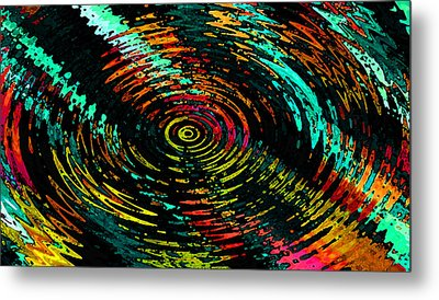 Ripple In Time Metal Print by Josephine Ring